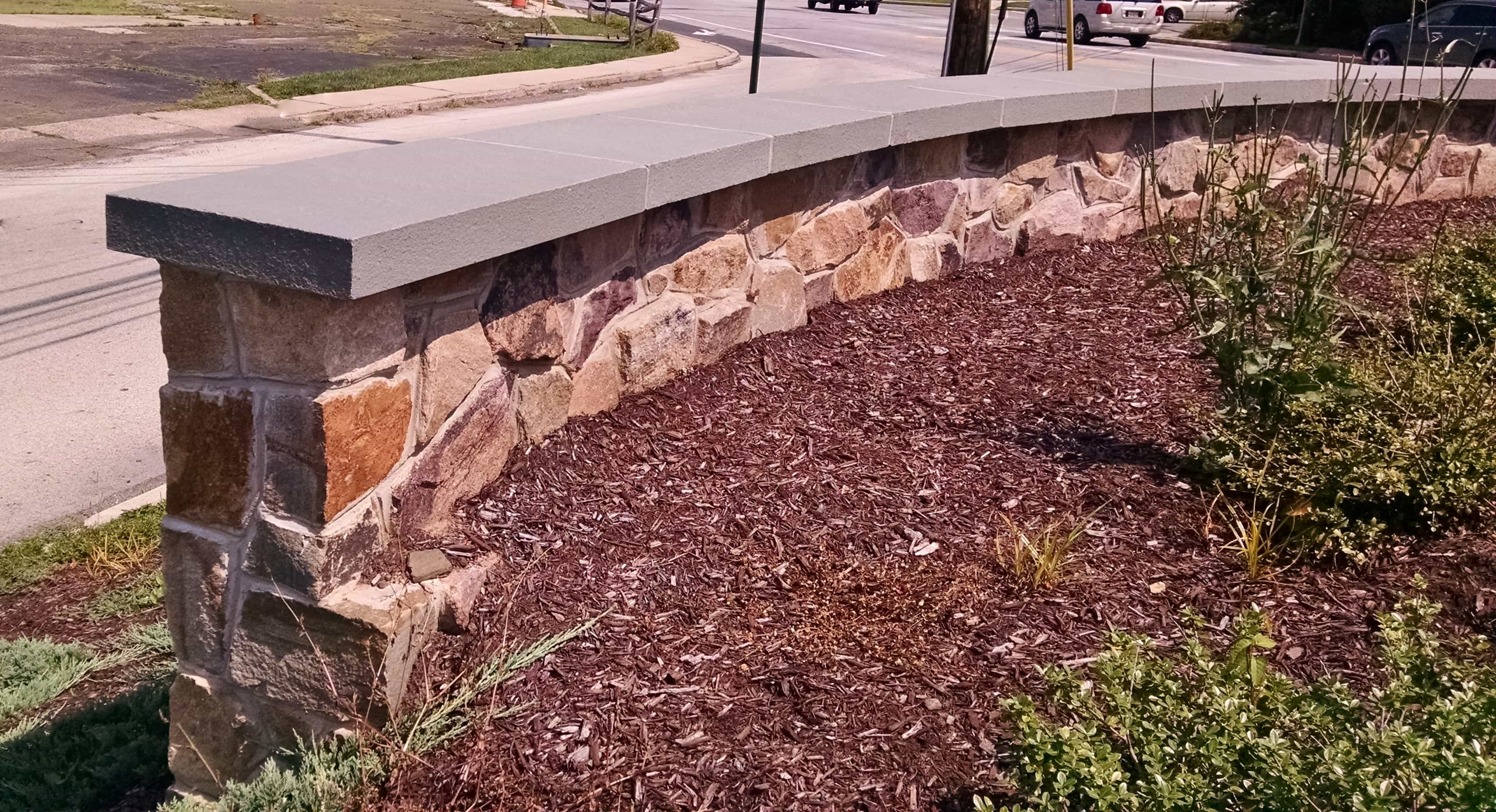 Natural Stone Wall Caps : Robinson flagstone treads coping wall caps