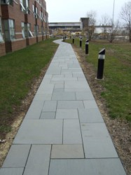 Blue Gray Thermal Walkway