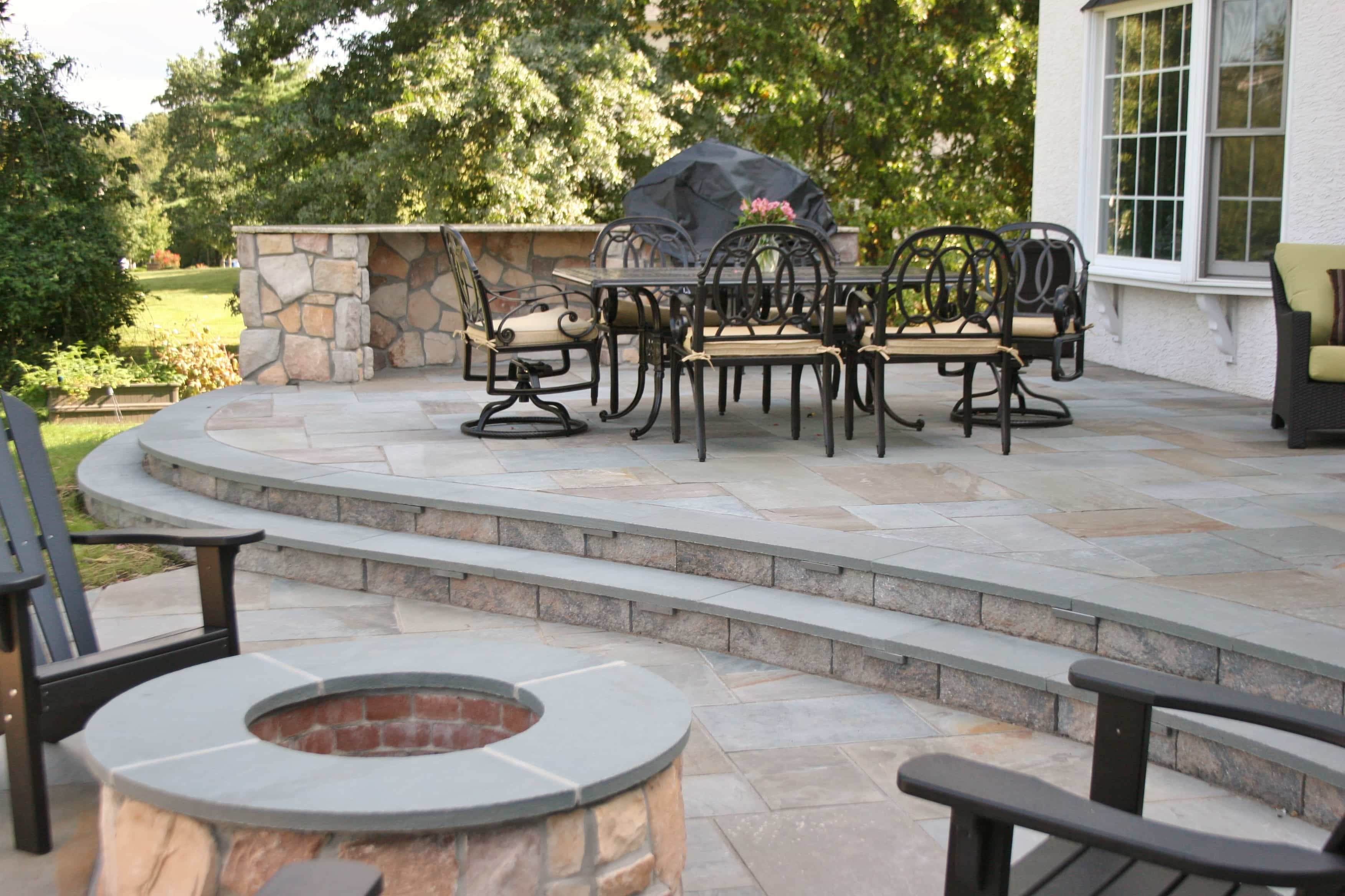 Curved Step Treads & Firepit Caps