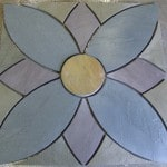 Bluestone Flower Feature