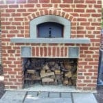 Pizza Oven with Bluestone Accents