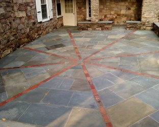 Full Color Patio with Brick Inset