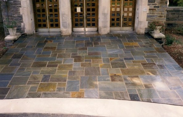 Full Color Range Random Rectangular · Blue Gray Flagstone. European Pattern