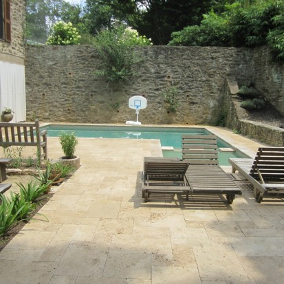 Travertine pool