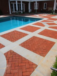 Blue Thermal Paving Bands & Pool Coping