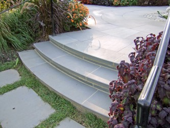 Curved Bluestone Steps & Risers