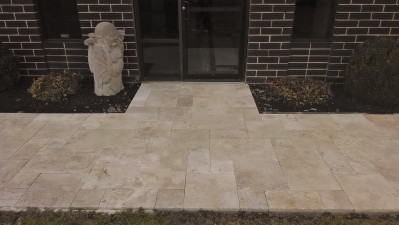 Walnut Travertine Entranceway