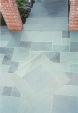 Blue Gray Walkway