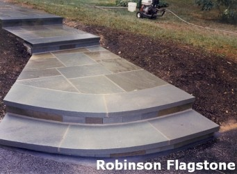 Curved Treads with Natural Cleft Risers