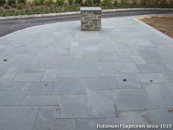 Blue Gray Flagstone. European Pattern