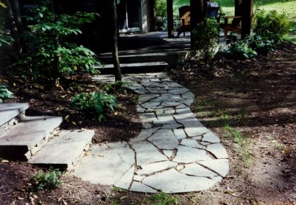 Irregular flagstones