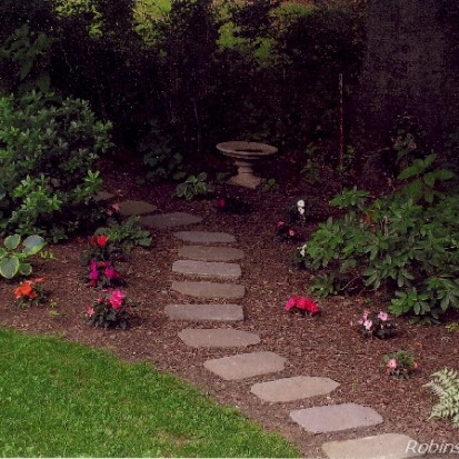Rustic Stepping Stones