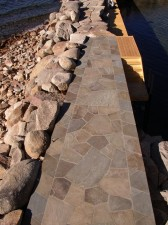 Irregular Flagstone Dock
