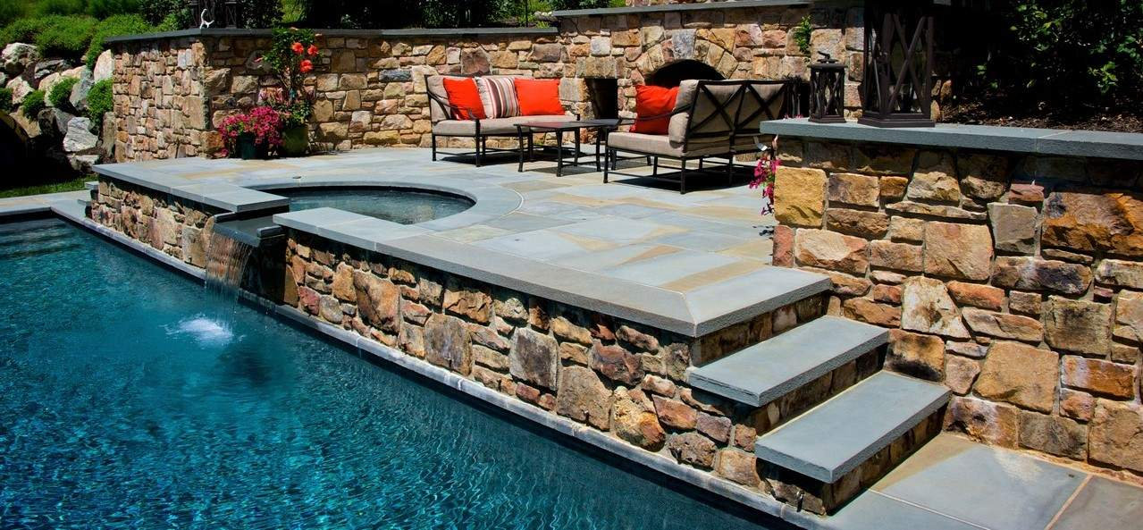 Bluestone Pool & Spa Coping