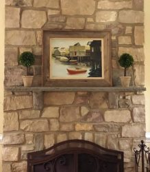 Rocked Edge Mantle with Bluestone Corbels